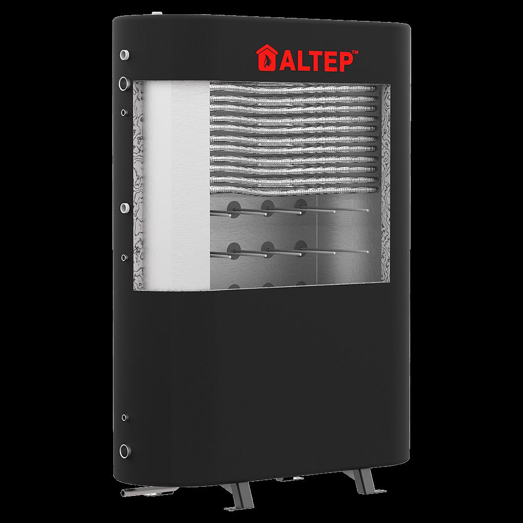 Плоский теплоаккумулятор с теплообменником